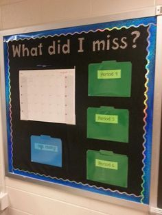What did I miss? Write missing students' names on the calendar, they pick up the assignment.