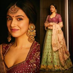 Spotted: This regal lehenga set on is a classical ode to Indian traditional outfits. Love this look? Get it at Carma by sending us a screenshot at Indian Fashion Dresses, Dress Indian Style, Indian Designer Outfits, Fashion Outfits, Indian Wear, Indian India, Indian Attire, Dress Fashion, Indian Wedding Outfits