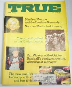 True Magazine Marilyn Monroe and The Brothers Kennedy June 1974 022813R | eBay