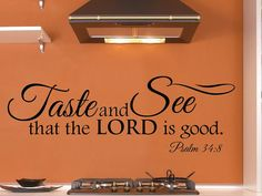 40x13 Kitchen Wall Decal  Bible Scripture Verse by JetmakDesigns, $45.00