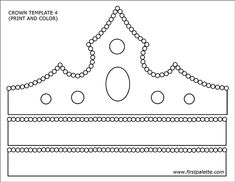 Printable crown template 4