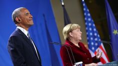 #GERMANS #SWD #GREEN2STAY Merkel welcomes Obama under cloud of Trump Chancellor Angela Merkel has thanked President Barack Obama for their eight-year partnership during his visit to Berlin. They had much to discuss as Donald Trump, a frequent Merkel critic, prepares to govern the USA.