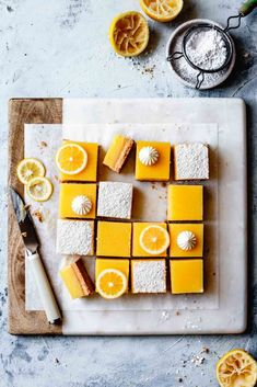 With creamy, tangy lemon curd and a salty-sweet almond flour shortbread crust, these gluten-free lemon bars are just the thing to make when life hands you all the lemons. Gourmet Desserts, Bojon Gourmet, Lemon Desserts, Healthy Dessert Recipes, Dessert Food, Chocolate Avocado Brownies, Chocolate Covered Bananas, Chocolate Tarts, Strawberry Oatmeal Bars