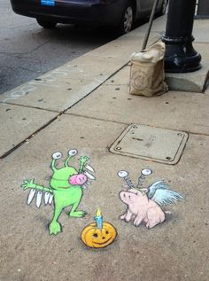 Adventures of David Zinn's Street Art Characters Sluggo & Philomena