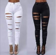 Resultado De Imagen Para Pantalones Altos Rasgados Womens Ripped Jeans Women Denim Jeans Denim Pants Women