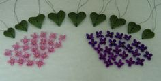 HAUTE ICE BEADWORK: Lemonade from Lemons - I arrived at the end of March with 72 4-petaled lilac flowerettes in three colors, 9 lilac leaves in various sizes and two different neckstraps, neither of which I was in love with.