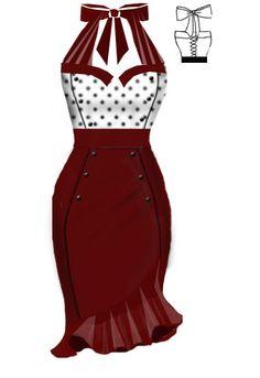 Rockabilly Dress. Love the design skirt.