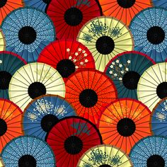 Chinese umbrellas (small scale) fabric by bippidiiboppidii on Spoonflower - custom fabric