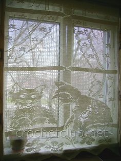 Filet Crochet, Crochet Lace, Crochet Curtains, Messina, Doilies, Decorating Your Home, Embroidery, Stitch, Knitting