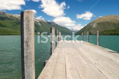 Looking up Lake Rotoiti into the valleys beyond in the Nelson Lakes. Image Now, Nature Photos, Looking Up, Lakes, New Zealand, Waterfall, National Parks, Scenery, Royalty Free Stock Photos