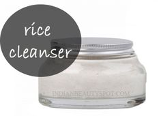homemade beauty - natural rice cleanser for clean and clear skin