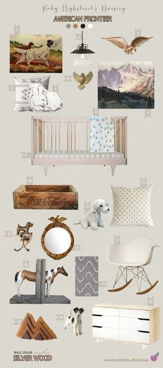 California Peach: American Frontier | Baby Highstreet's Nursery -- Colonial, Frontier, Western, Southwestern, Nursery, Neutral, Gender Neutral, Boy, Girl, Masculine, Gold, Eagle, Mirror, Pinto, Horse, Breyer, Bookend, Coca-Cola Crate, Scottish Terrier Hook, Edgar Payne, Marc Davis, Mary Highstreet, Hare, Rabbit, Ikea, English Setter, Indian, Native American, Moccasins, Bible, Christian, Art, Baby Room, Nursery, Mythic Paint, Non-Toxic, Green 0VOC, Eco Friendly, Organic, Mary Highstreet