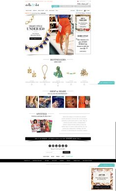 http://www.stelladot.com/ 'Get a personal stylist' is normally fixed to the bottom of the page, its a very nice subtle feature. The fonts and limited colour palette make this site particularly enticing