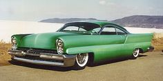 """1957 Lincoln """"Royal Emperor"""" by John D'Augustino, fade paint by Gene Winfield Retro Cars, Vintage Cars, Gene Winfield, Paint Stripes, Ford Classic Cars, Automotive Photography, Sweet Cars, Kustom, Car Photos"""