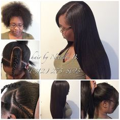 For my PRICES: (312) 273-8693 LOCATION: Downtown Chicago  IG: @iamhairbynatalieb FB: Hair by Natalie B.  Natural-Looking Sew-In Hair WeavesPERFECT PONY SEW-IN HAIR WEAVES by Natalie B. (312) 273-8693...IG: @iamhairbynatalieb...FACEBOOK: Hair by Natalie B. .....ORDER HAIR: www.naturalgirlhair.com.