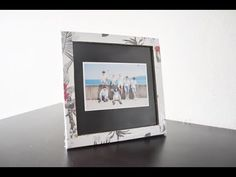 How to make photo frame DIY bingkai / frame foto dari kardus - Modern How To Make Photo, How To Make Diy, Cardboard Frames, Foto Frame, Diy Frame, Diy Photo, Diy And Crafts, Hand Crafts, Shadow Box