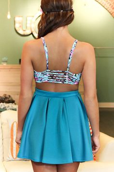Daisy Corset Top and skater skirt