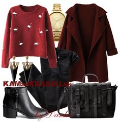 Jednoduchý outfit #kamzakrasou #sexi #love #jeans #clothes #coat #shoes #fashion #style #outfit #heels #bags #treasure #blouses #dress