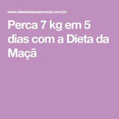 Perca 7 kg em 5 dias com a Dieta da Maçã