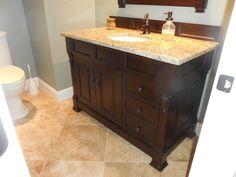 Dark Wood Bathroom, Vanity, Dressing Tables, Powder Room, Vanity Set, Single Vanities, Vanities, Dresser To Vanity, Wash Stand