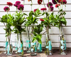 Unique floral table numbers