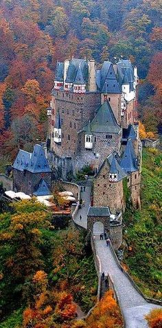 Burg Eltz Castle overlooking the Moselle River between Koblenz and Trier Germany