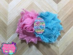 A personal favorite from my Etsy shop https://www.etsy.com/listing/287717515/shabby-hair-bow-blue-and-pink-hair-bow