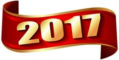 2017 Red Banner PNG Clip Art Image