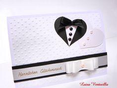 Hochzeitkarte, Glückwunschkarte, 3D Karte,  von Luisa Ventocilla Shop auf DaWanda.com