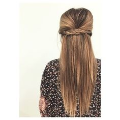 Braided back half-up hair with poof