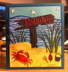 Don't be Crabby: Memory Box's, Impression Obsession, Dee's Distinctively and Tim Holtz dies