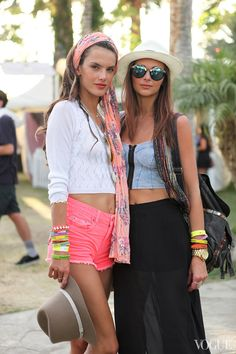 Alessandra Ambrosio doing Coachella right #StylingAtCoachella #StyleHaulYT