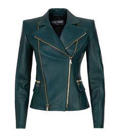 #Farbbberatung #Stilberatung #Farbenreich mit www.farben-reich.com Balmain Biker Jacket in green