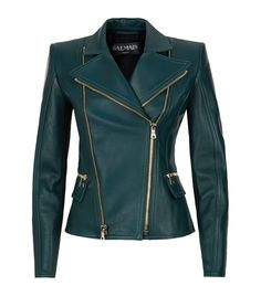Balmain Biker Jacket in green