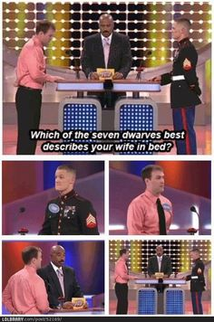 Family Feud- wtf kind of question is this? Way to go, gentlemen, for not playing into this