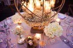 Al Fresco Black-Tie Glamour | Miami + Fort Lauderdale, FL | queen anne's lace candelabra