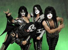 Kiss Masken Gesichter-Make Up-Ideen Halloween Männer Kostüme
