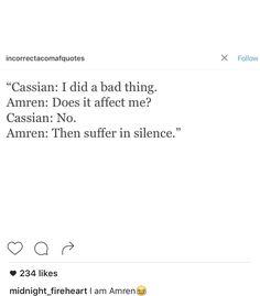 Cassian-Amren interactions are great.