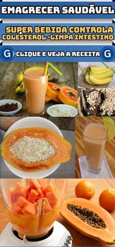 Faça essa super bebida de mamão e aveia e perca peso, limpe o intestino e controle o colesterol #dicas #emagrecer #suco #mamão #aveia #limpa #intestino #controla #colesterol