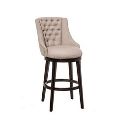 Halbrooke Smoke Swivel Counter Stool Hillsdale Furniture Counter Height (18 To 26 Inch) Ba
