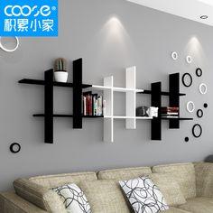 Aglomerado de partição de prateleira prateleiras de parede TV suporte de parede quadro clássico fino livros