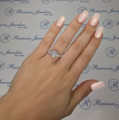 Raineri Jewelers Custom Made White Gold Diamond Engagement Ring Setting by Gabriel & Co Exclusively Sold by Raineri Jewelers, Center Stone Sold Separately
