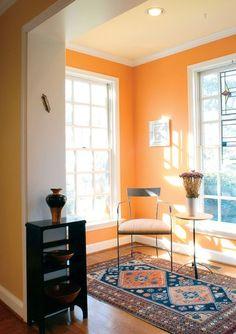 The Underused Interior Design Color - How To Use Orange Indoors. Love it!