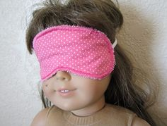 A girl has got to get her beauty sleep if she's goining to look her best.  Tutorial for Doll Sleep Mask & pdf pattern.  Go ahead. . . surprise your doll!!!