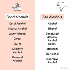 Vs Bad Alcohol in Skin Care Is alcohol bad for your skin? Here's a quick guide you can save to help you!Is alcohol bad for your skin? Here's a quick guide you can save to help you! Skin Tips, Skin Care Tips, Skin Care Regimen, Beauty Care, Beauty Skin, Beauty Tips, Beauty Products, Diy Beauty, Beauty Habits