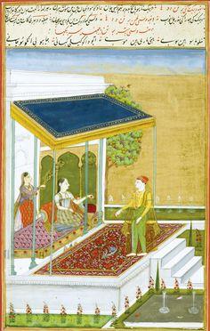 Patmanjari Ragini. Ragamala, Gouache heightened with gold on paper, India, Deccan, Hyderabad, ca. 1760