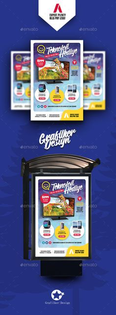 Technology Shop Poster Templates by grafilker Technology Shop Poster Templates Fully layeredINDDFully layeredPSD300 Dpi, CMYKIDML format openIndesign CS4 or laterCompletely edi