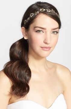 Nina Floral Crystal Headband available at #Nordstrom
