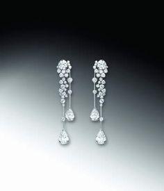via By Sasha - Chanel earrings Chanel Jewelry, Pearl Jewelry, Indian Jewelry, Wedding Jewelry, Fine Jewelry, Women Jewelry, Fashion Jewelry, Chanel Earrings, Hanging Earrings