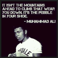 Ali had the art of boxing done to a fine hone. He is a hero of mine because his greatest fight was against Parkinson's Disease.